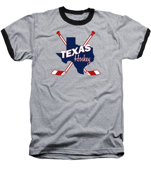 Texas State Hockey Baseball T-Shirt by Summer Myers