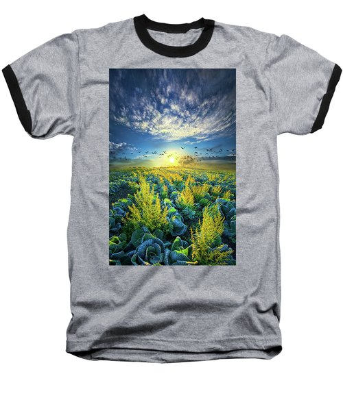 That Voices Never Shared Baseball T-Shirt by Phil Koch