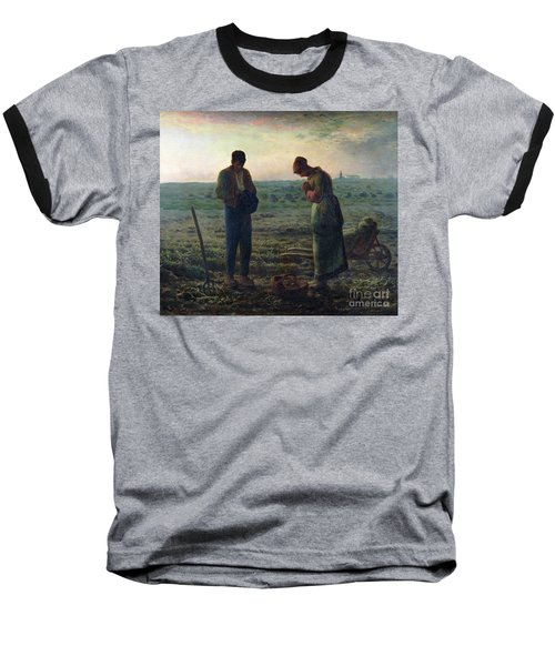 The Angelus Baseball T-Shirt by Jean-Francois Millet