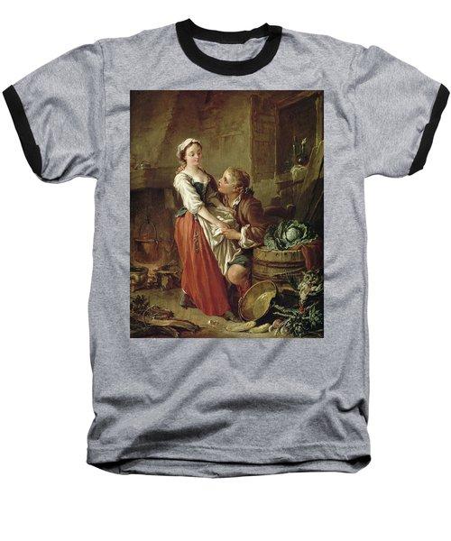 The Beautiful Kitchen Maid Baseball T-Shirt by Francois Boucher