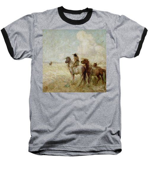 The Bison Hunters Baseball T-Shirt by Nathaniel Hughes John Baird