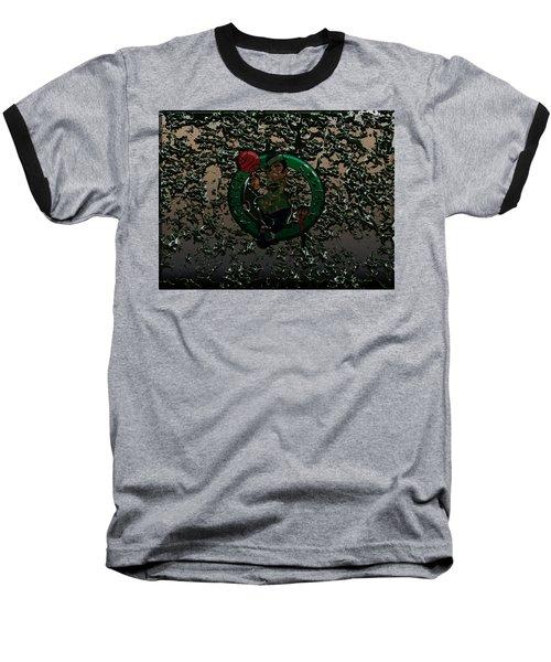 The Boston Celtics 1c Baseball T-Shirt by Brian Reaves