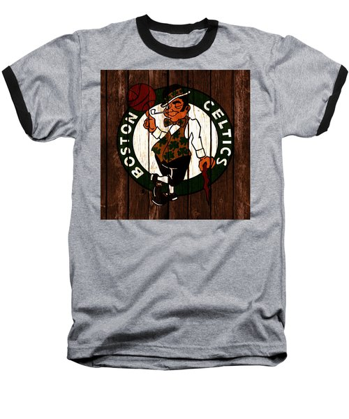 The Boston Celtics 2c Baseball T-Shirt by Brian Reaves