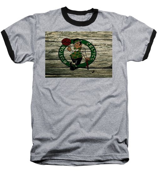 The Boston Celtics 2w Baseball T-Shirt by Brian Reaves
