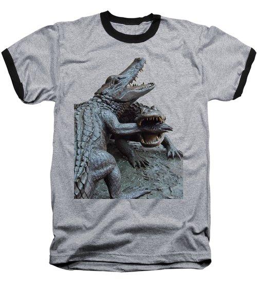 The Chomp Transparent For Customization Baseball T-Shirt by D Hackett