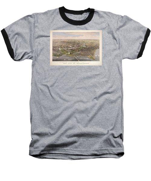 The City Of Washington Baseball T-Shirt by Charles Richard Parsons