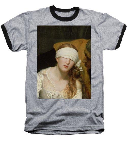 The Execution Of Lady Jane Grey Baseball T-Shirt by Hippolyte Delaroche