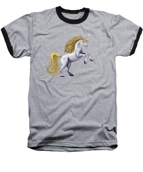 The Golden Unicorn Baseball T-Shirt by Glenn Holbrook