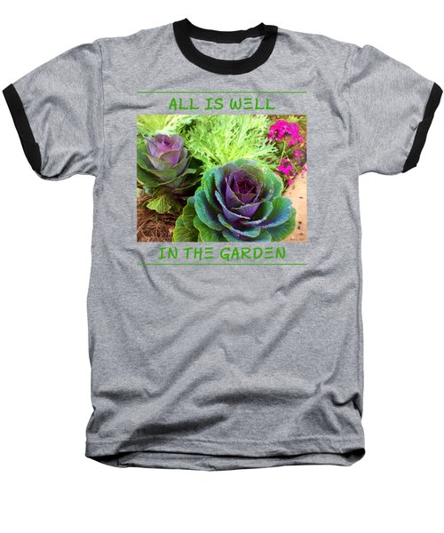 The Healing Garden Baseball T-Shirt by Korrine Holt
