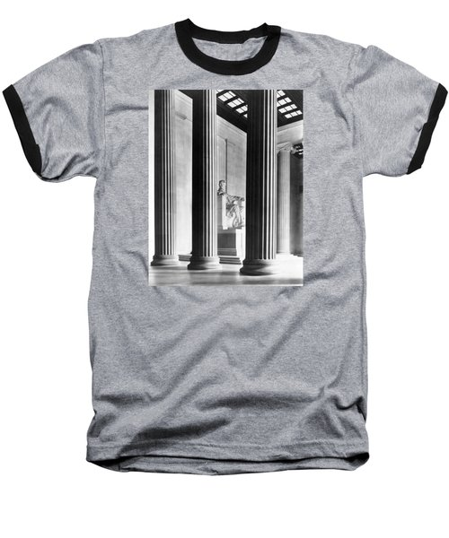 The Lincoln Memorial Baseball T-Shirt by War Is Hell Store