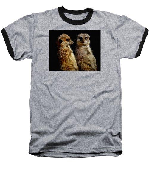 The Meerkats Baseball T-Shirt by Ernie Echols