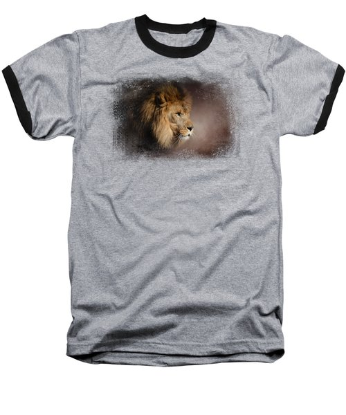 The Mighty Lion Baseball T-Shirt by Jai Johnson