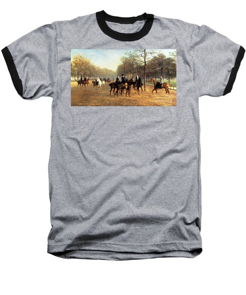The Morning Ride Rotten Row Hyde Park Baseball T-Shirt by Heywood Hardy
