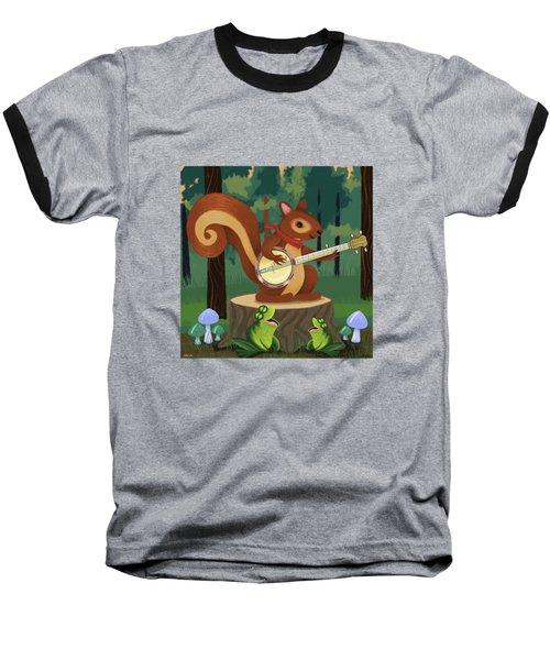 The Nutport Croak Music Festival Baseball T-Shirt by Little Bunny Sunshine