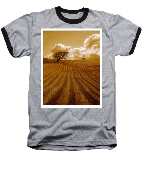The Ploughed Field Baseball T-Shirt by Mal Bray