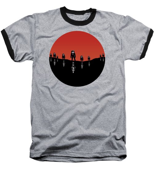 The Rust Coloured Soil - Something Strangely Familiar Baseball T-Shirt by Zombie Rust
