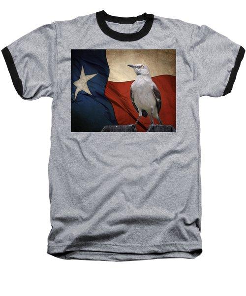 The State Bird Of Texas Baseball T-Shirt by David and Carol Kelly