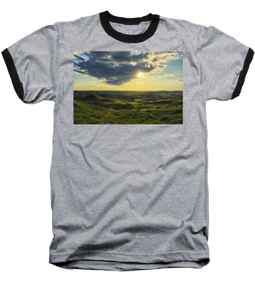 The Sun Shines Through A Cloud Baseball T-Shirt by Robert Postma