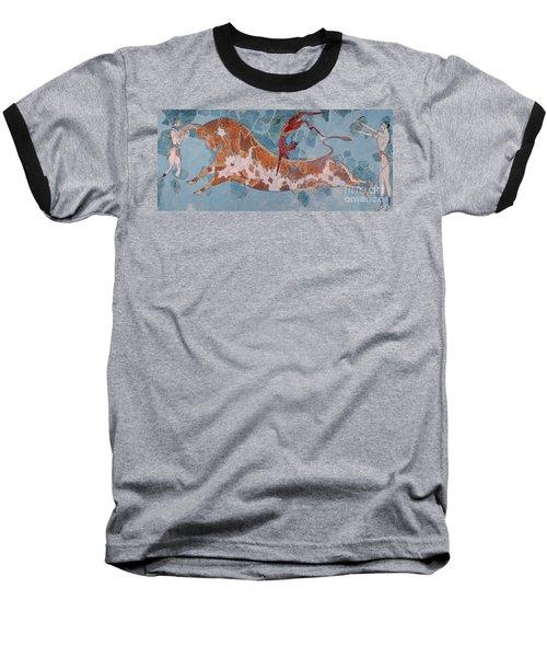 The Toreador Fresco, Knossos Palace, Crete Baseball T-Shirt by Greek School