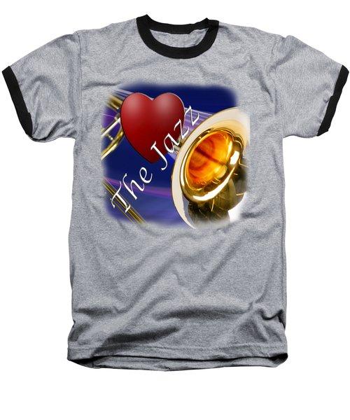 The Trombone Jazz 002 Baseball T-Shirt by M K  Miller