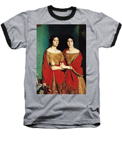 The Two Sisters Baseball T-Shirt by Theodore Chasseriau