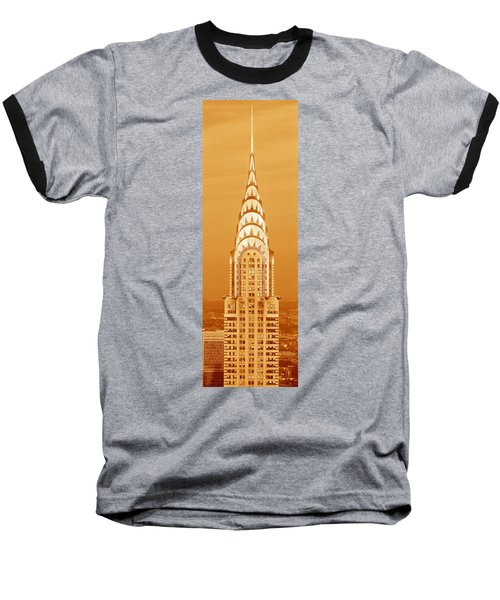 Chrysler Building At Sunset Baseball T-Shirt by Panoramic Images