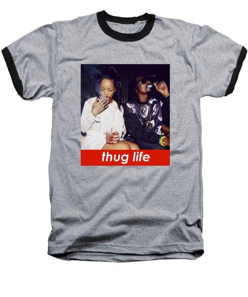 Thug Life Baseball T-Shirt by Bruna Bottin