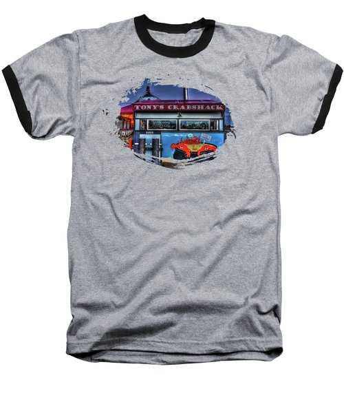 Tonys Crabshack Baseball T-Shirt by Thom Zehrfeld