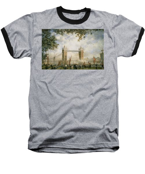 Tower Bridge - From The Tower Of London Baseball T-Shirt by Richard Willis