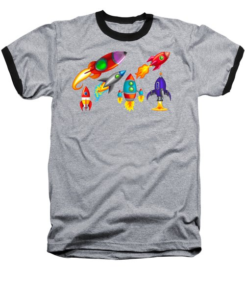 Toy Rockets Baseball T-Shirt by Brian Kemper