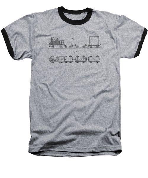 Toy Train Tee Baseball T-Shirt by Edward Fielding