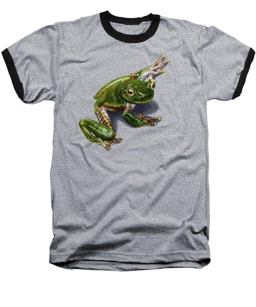 Tree Frog  Baseball T-Shirt by Owen Bell