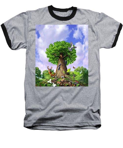 Tree Of Life Baseball T-Shirt by Jerry LoFaro