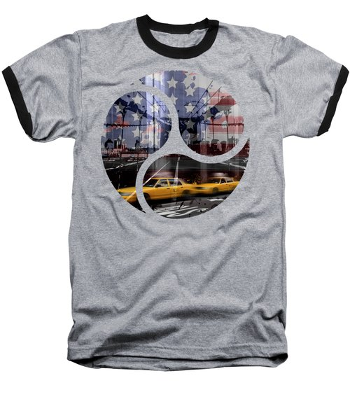 Trendy Design Nyc Composing Baseball T-Shirt by Melanie Viola