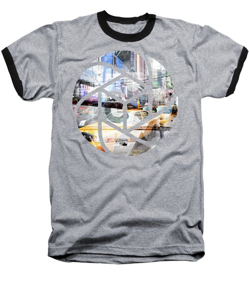 Trendy Design Nyc Geometric Mix No 9 Baseball T-Shirt by Melanie Viola