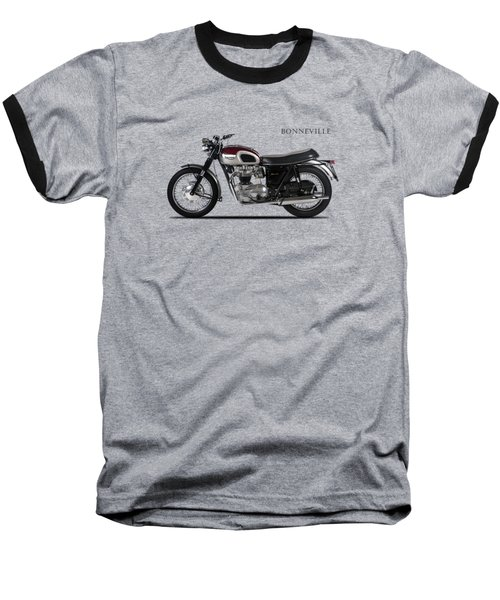 Triumph Bonneville 1968 Baseball T-Shirt by Mark Rogan