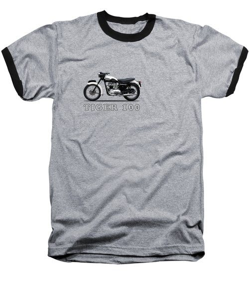 Triumph Tiger 110 1959 Baseball T-Shirt by Mark Rogan