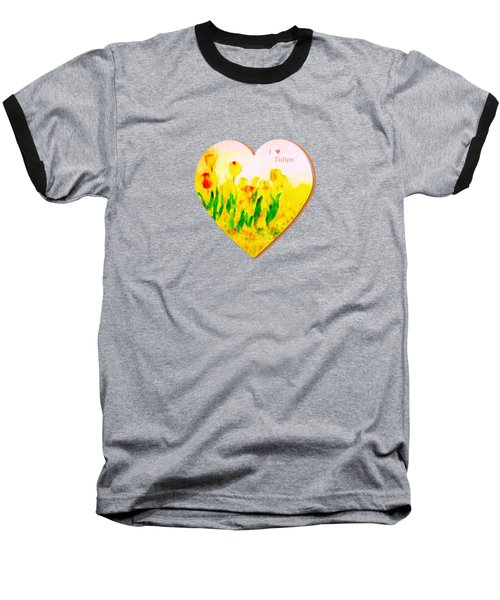 Tulips In Springtime-floral Painting By V.kelly Baseball T-Shirt by Valerie Anne Kelly