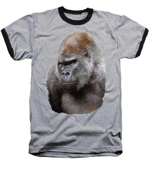 U Lookin At Me Baseball T-Shirt by James Shepherd