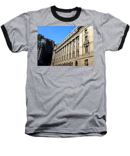 U S Custom House 1 Baseball T-Shirt by Randall Weidner