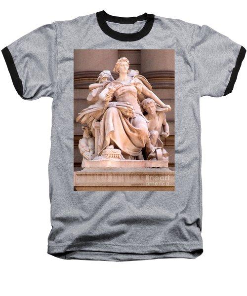 U S Custom House 4 Baseball T-Shirt by Randall Weidner