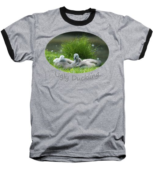 Ugly Duckling Baseball T-Shirt by Richard Gibb