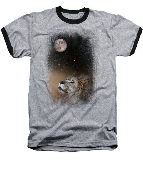 Under The Moon And Stars Baseball T-Shirt by Jai Johnson