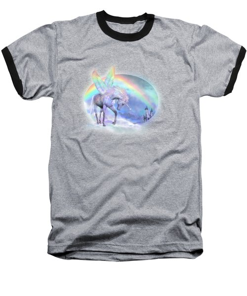 Unicorn Of The Rainbow Baseball T-Shirt by Carol Cavalaris