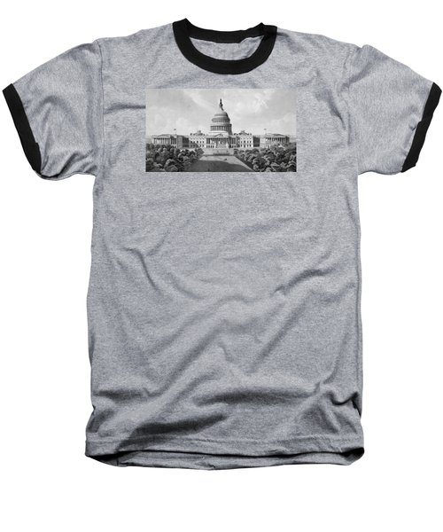 Us Capitol Building Baseball T-Shirt by War Is Hell Store
