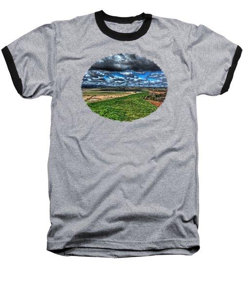 Van Duzer Vineyards View Baseball T-Shirt by Thom Zehrfeld