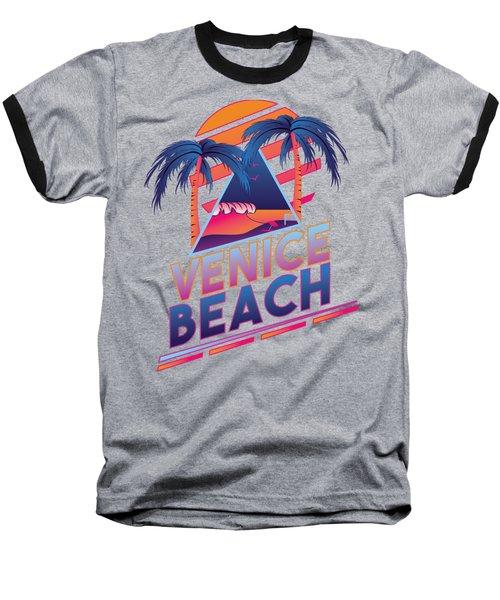 Venice Beach 80's Style Baseball T-Shirt by Alek Cummings
