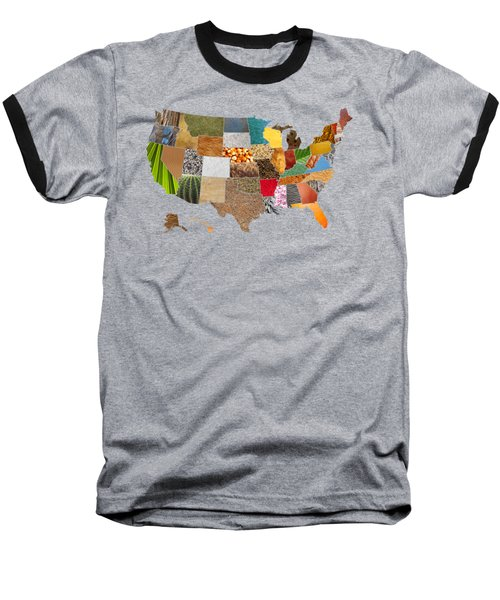 Vibrant Textures Of The United States Baseball T-Shirt by Design Turnpike