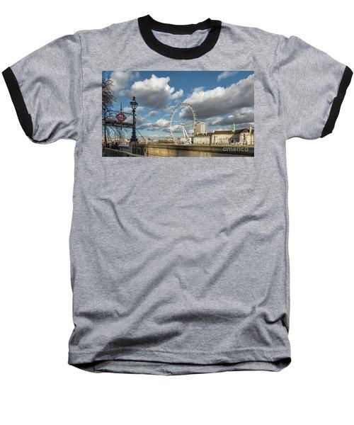 Victoria Embankment Baseball T-Shirt by Adrian Evans