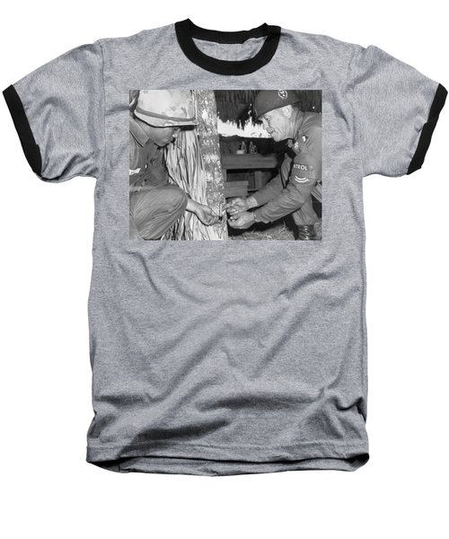 Viet Cong Booby Trap Baseball T-Shirt by Underwood Archives